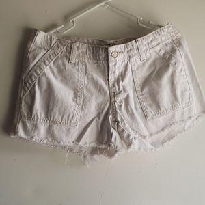 White - •Old Navy•   'The Diva' Rawhem Jean Shorts